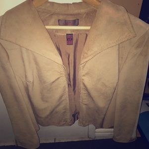 Danier Suede jacket with zipper